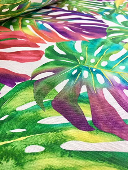 Amazon Com Homebuy Tropical Palm Leaves Fabric Curtain Upholstery