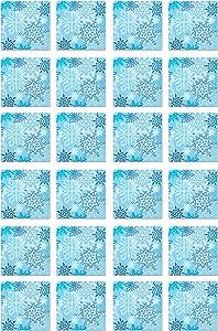Beistle Snowflake Beverage Napkins 2-Ply Light Blue/White, Pack of 48