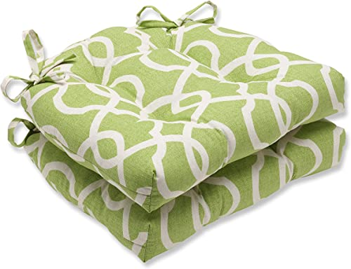 Set of 2 Green Apple Victorian Reversible Indoor Chair Cushion 16″