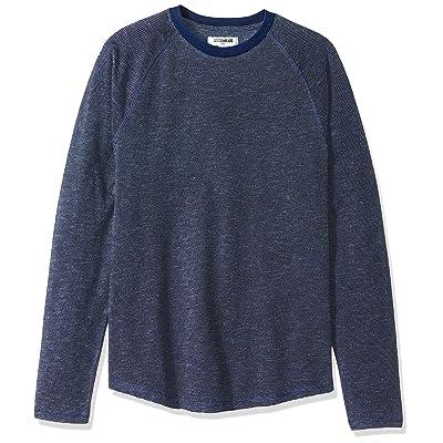 Brand - Goodthreads Men's Long-Sleeve Indigo Raglan T-Shirt: Clothing