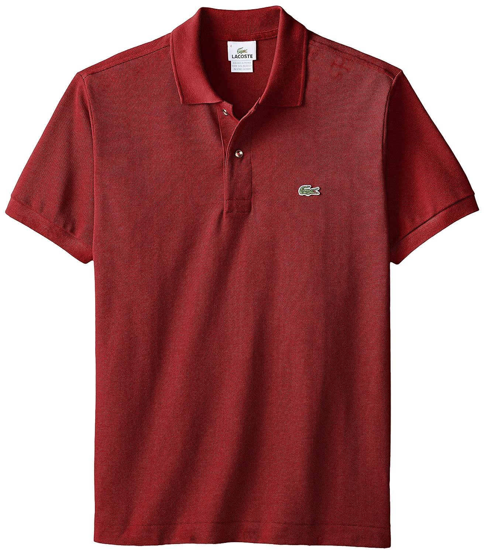 Lacoste ラコステMen's L-1212,半袖 鹿の子 ポロシャツ(並行輸入品) B000SE9T00 M|ボルドー ボルドー M