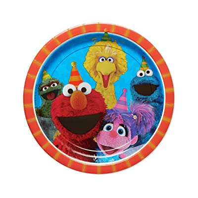 American Greetings Sesame Street Paper Dinner Plates, 8-Count: Toys & Games