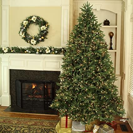 Amazoncom Noble Fir Artificial Christmas Tree Prelit Christmas