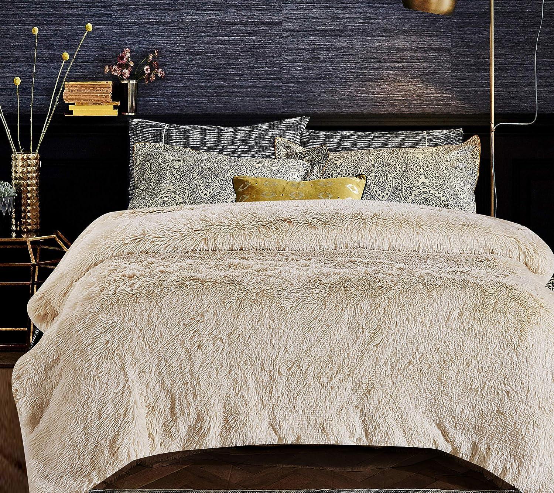 Chanasya Shaggy Longfur Faux Fur Throw Blanket