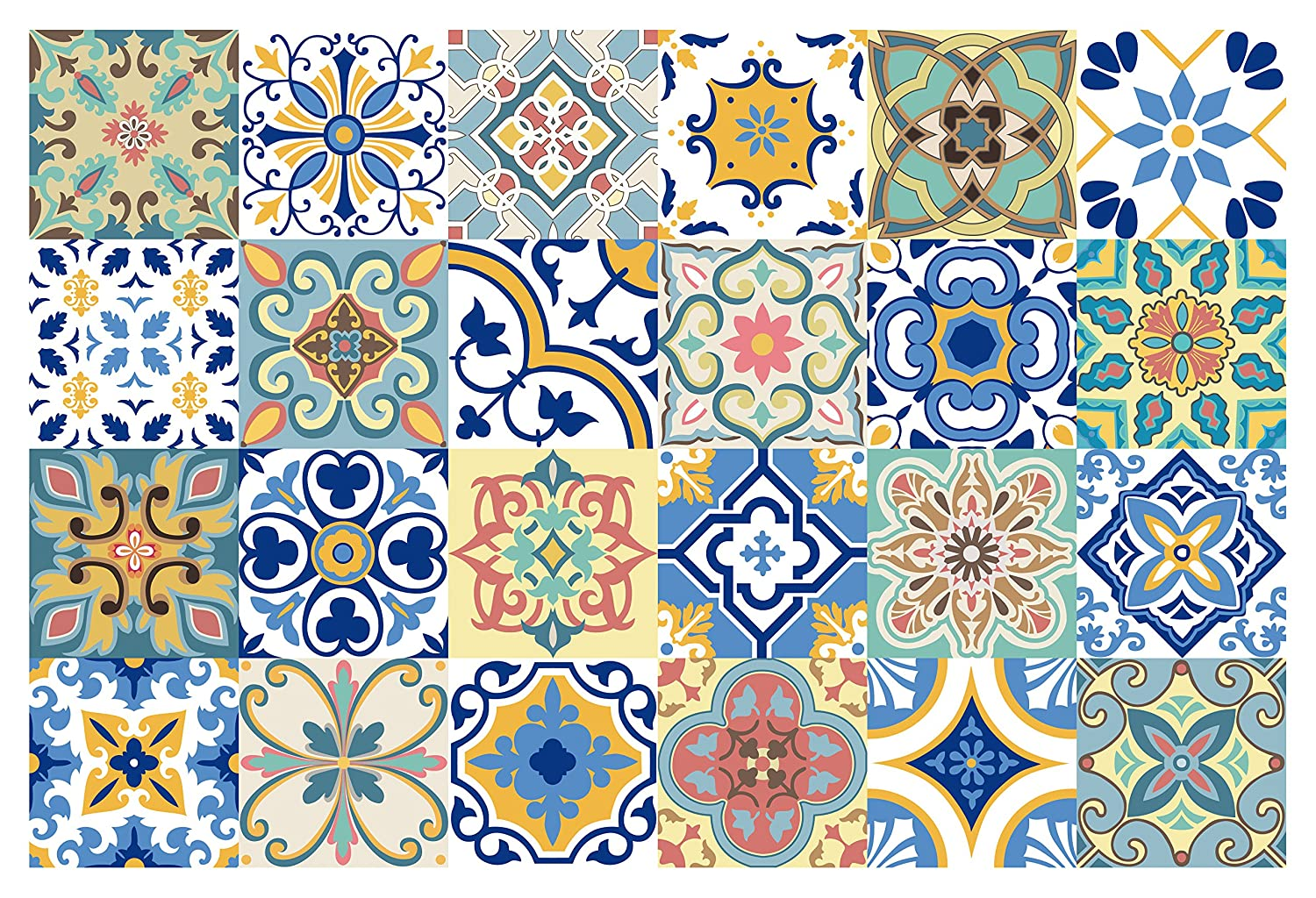 Amazon.com: GSS Designs 24 PC Pack Traditional Mexican Talavera Tile ...