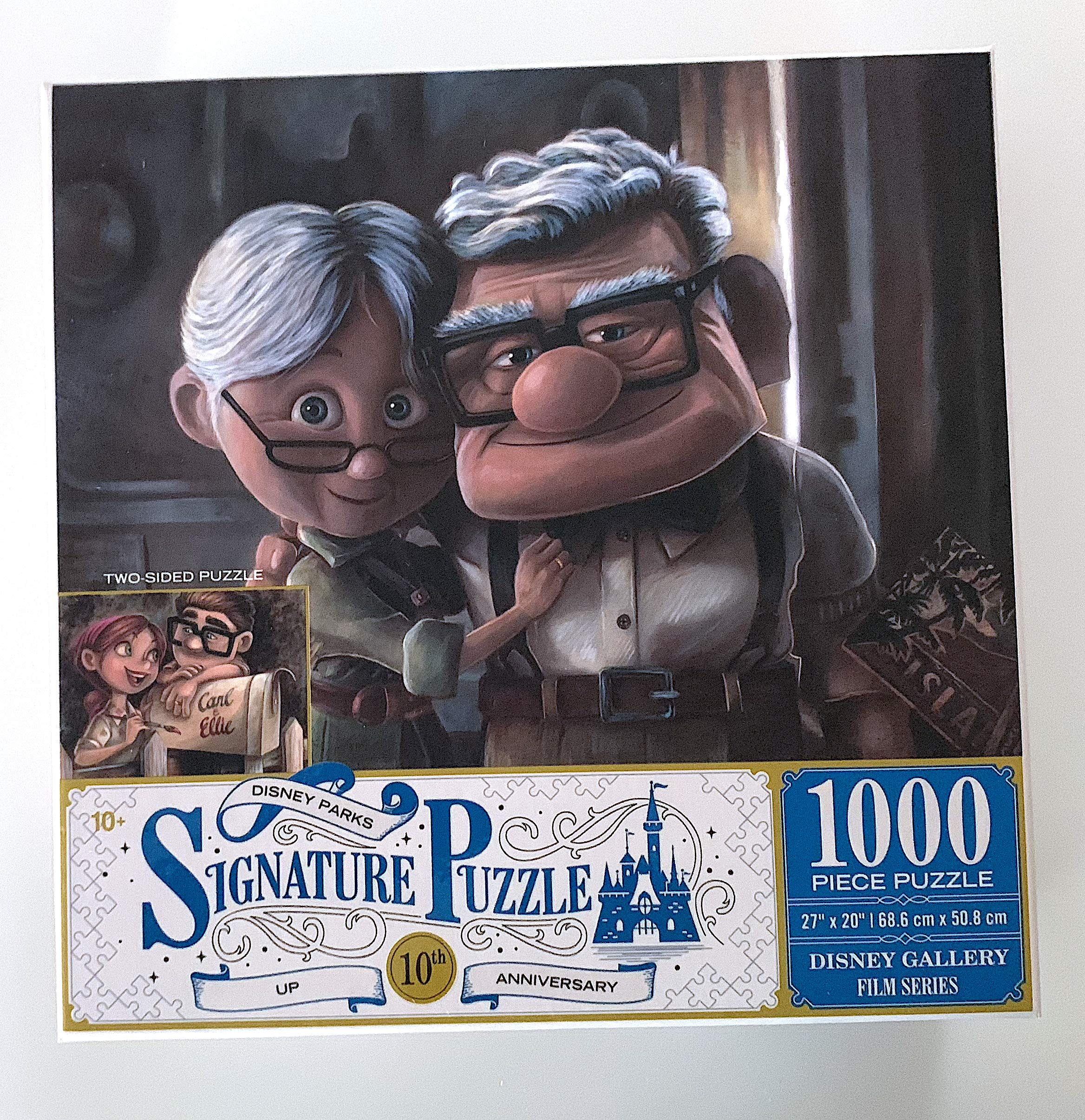 DisneyParks Up! Carl Ellie 10th Anniversary Two Side 1000 Piece Puzzle New by Disney