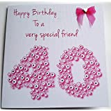 white cotton cards wb202 40 pink cupcake special friend 40 happy