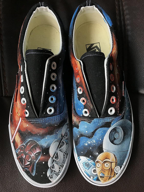 495b7062793e6 Amazon.com: Star Wars Vans Custom Vans Shoes Hand Painted Canvas ...
