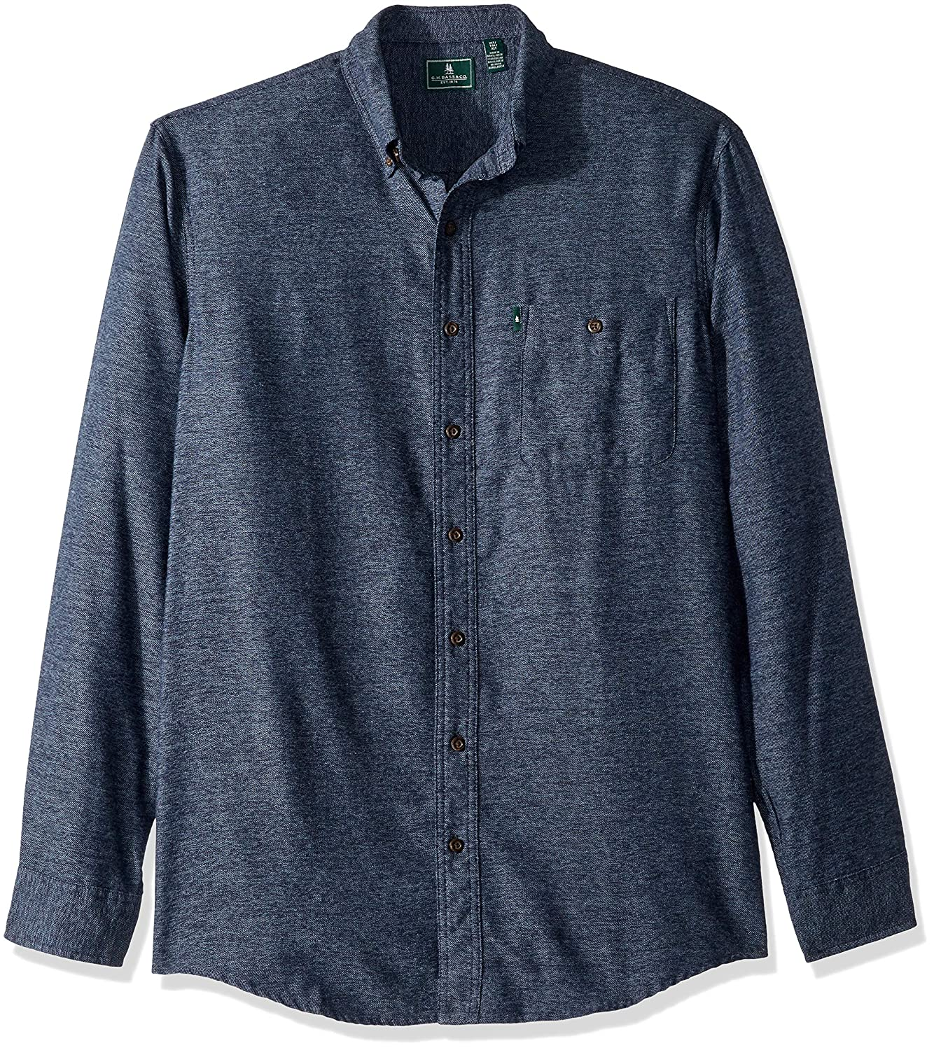 Bass /& Co G.H Mens Carbon Henley Long Sleeve Shirt