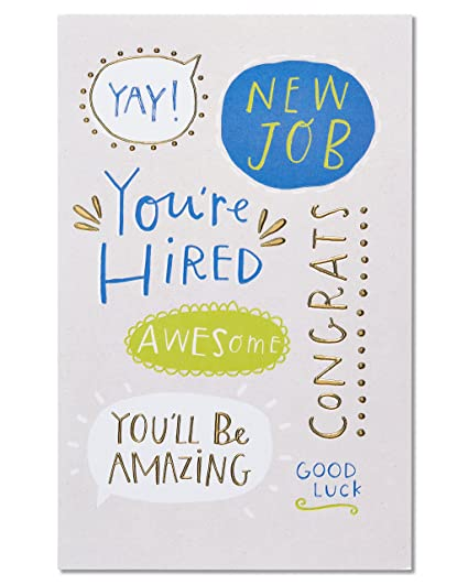 Amazon youre hired new job congratulations card with foil youre hired new job congratulations card with foil m4hsunfo