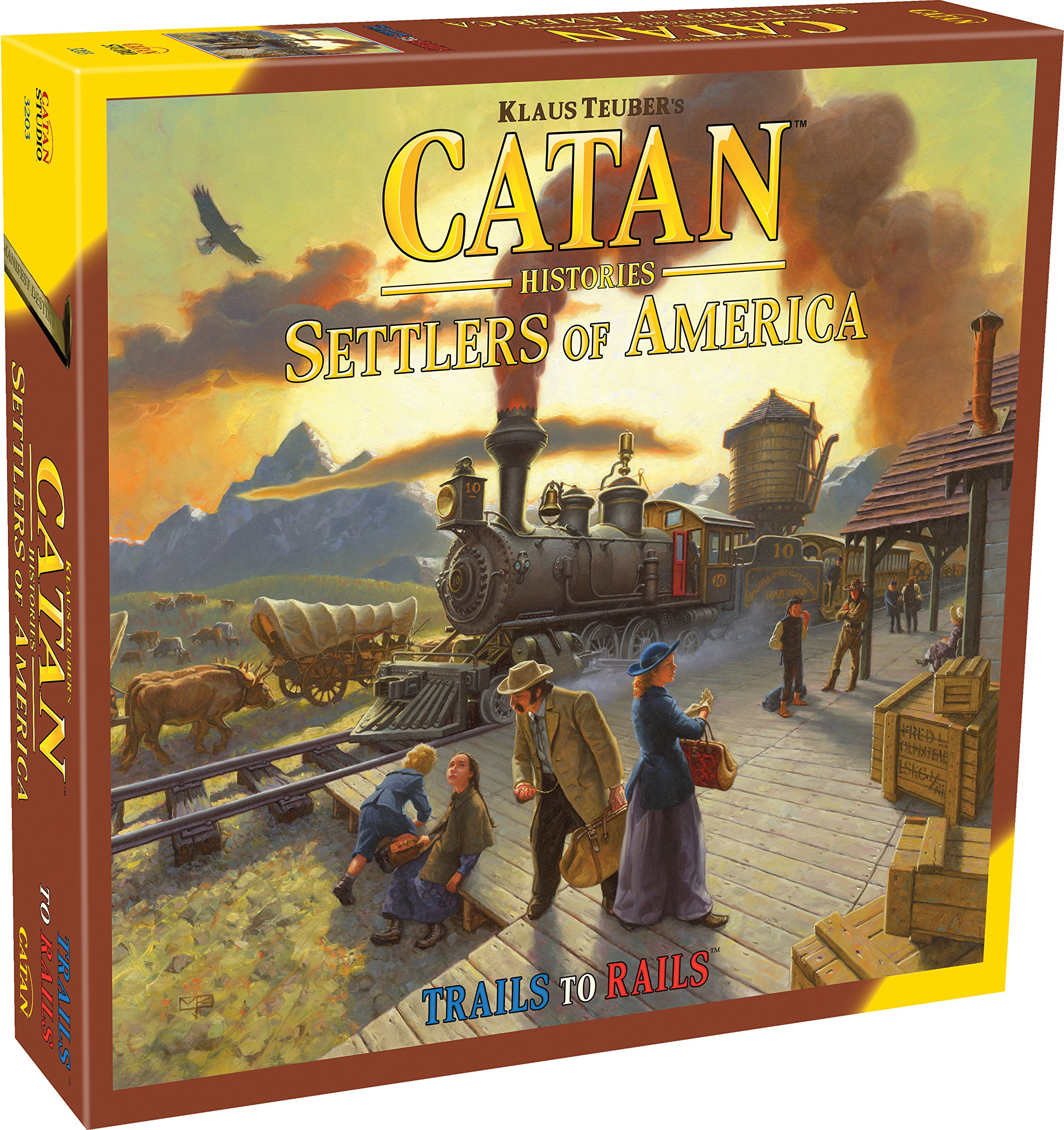 Catan Histories: Settlers of America Trails to Rails by Mayfair Games