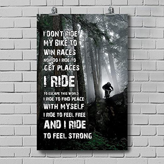 Amazon Com Thanhlk Biker Poster I Don T Ride My Bike Great