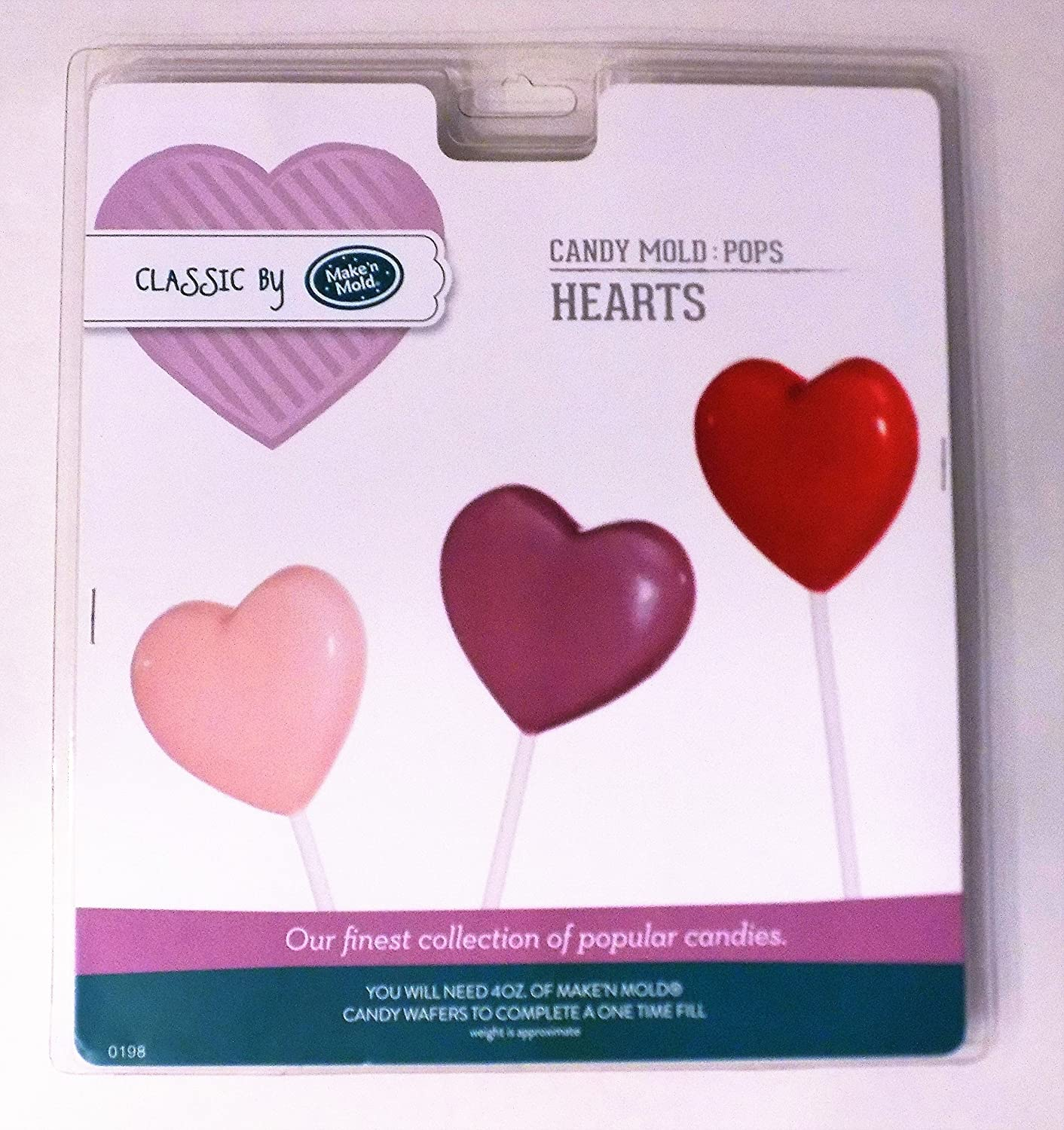 Valentine Heart Lollipop Making Bundle - Heart Candy Mold -2 Wilton Candy Melts Color Red and Pink- with Bags, Sticks and Ties: Amazon.com: Grocery ...