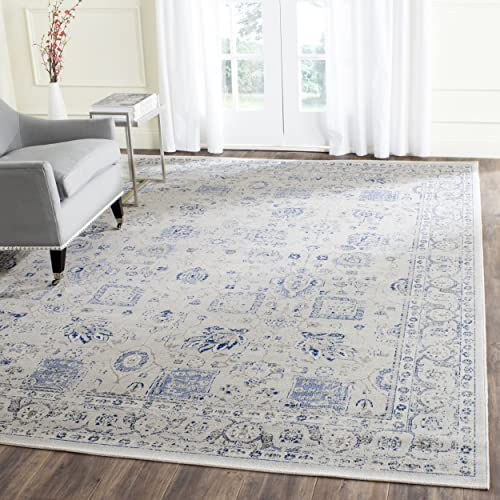 Safavieh Artisan Collection ATN326C Vintage Oriental Silver Distressed Area Rug 9 x 12