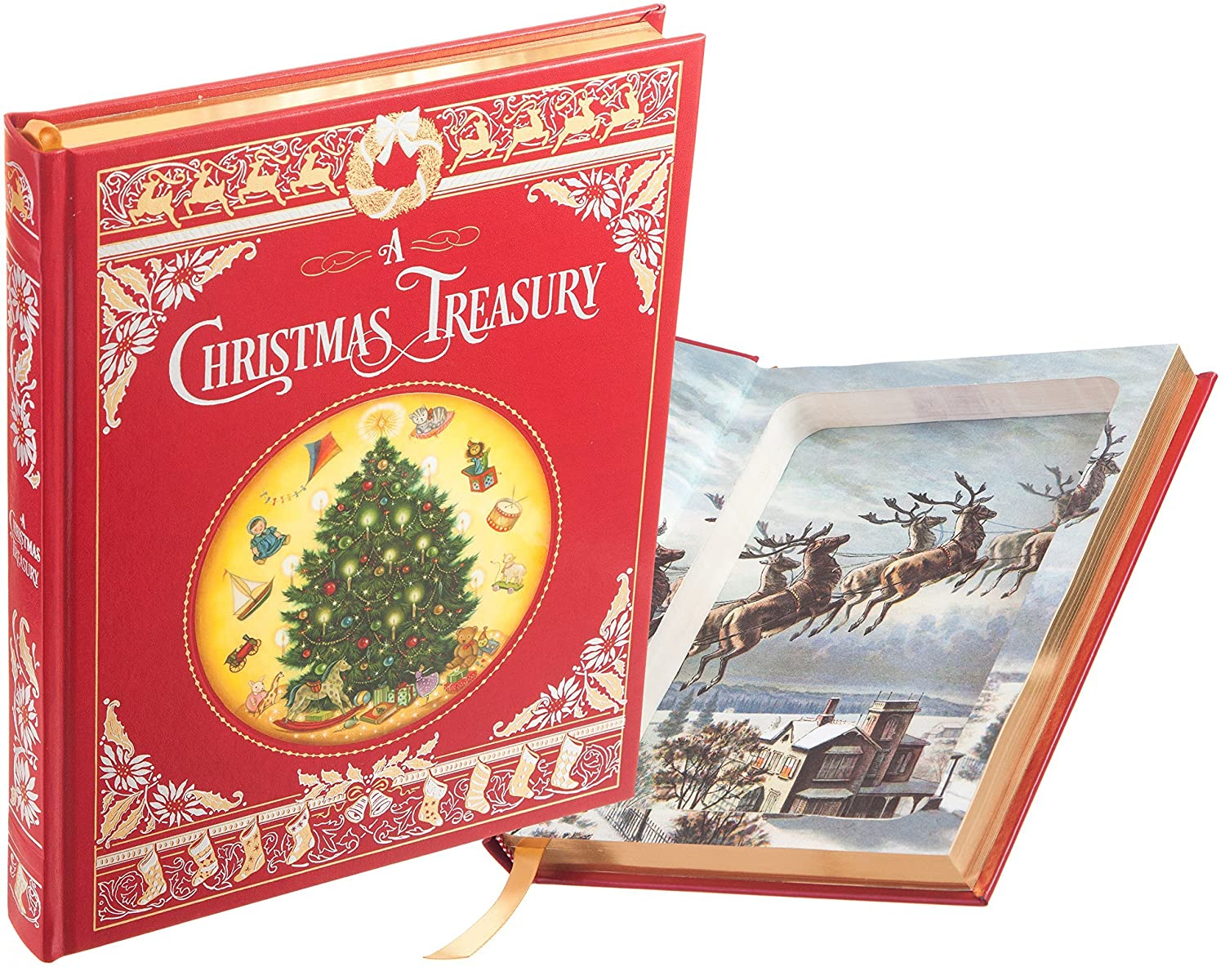 Hollow Book Safe - A Christmas Treasury (Leather-bound)