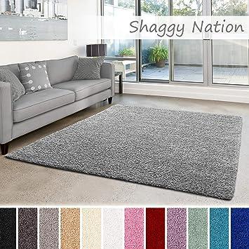 Amazonde Shaggy Teppich Flauschiger Hochflor Für Wohnzimmer