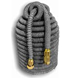 "Tuff! Hose Platinum Edition. 100' Expandable Hose. The Toughest, Longest Lasting Expanding Hose on the Planet. 3/4"" Solid Brass Fittings"