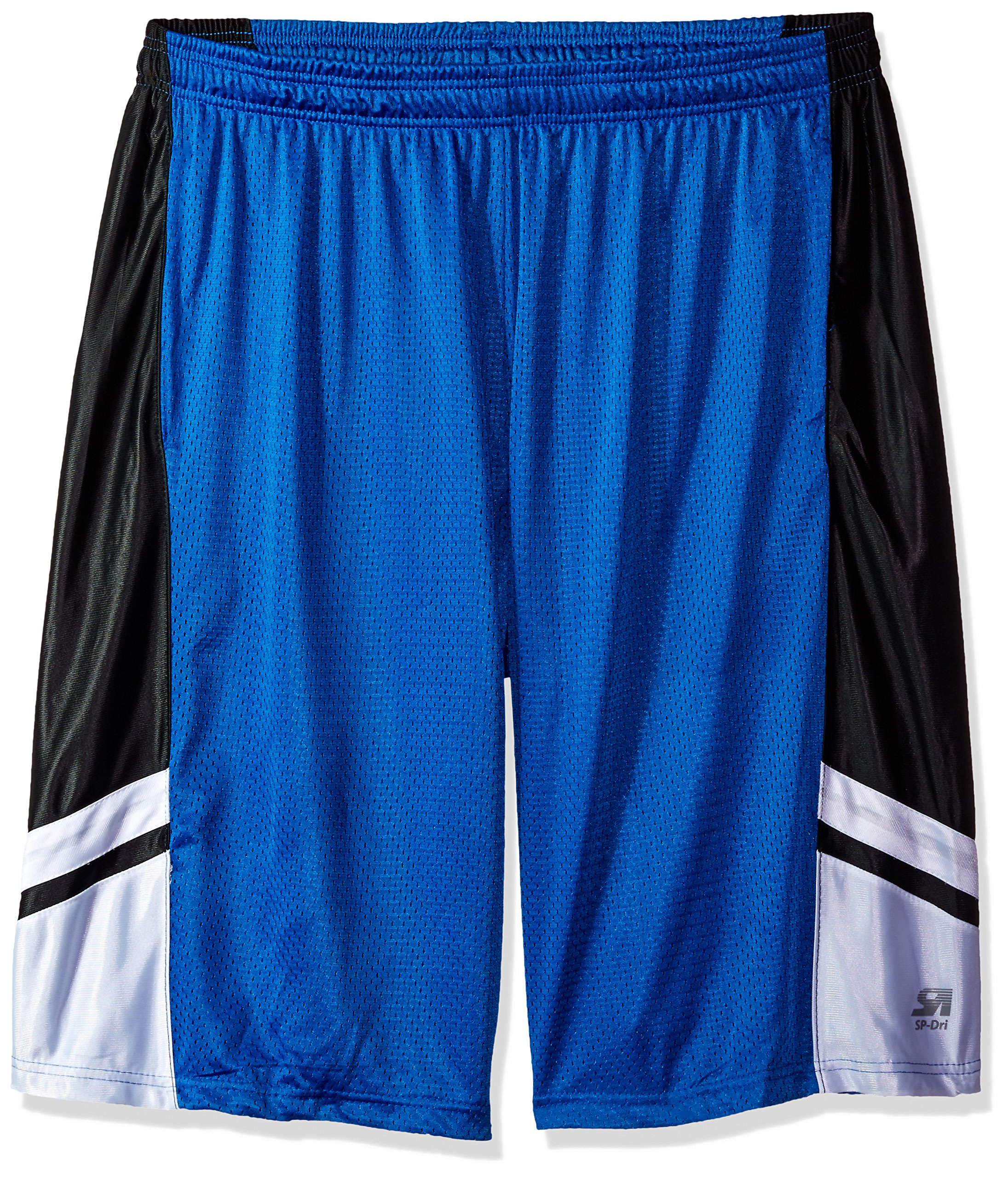 Southpole Men's Big and Tall Basic Basketball Mesh Shorts, Royal, 5XB
