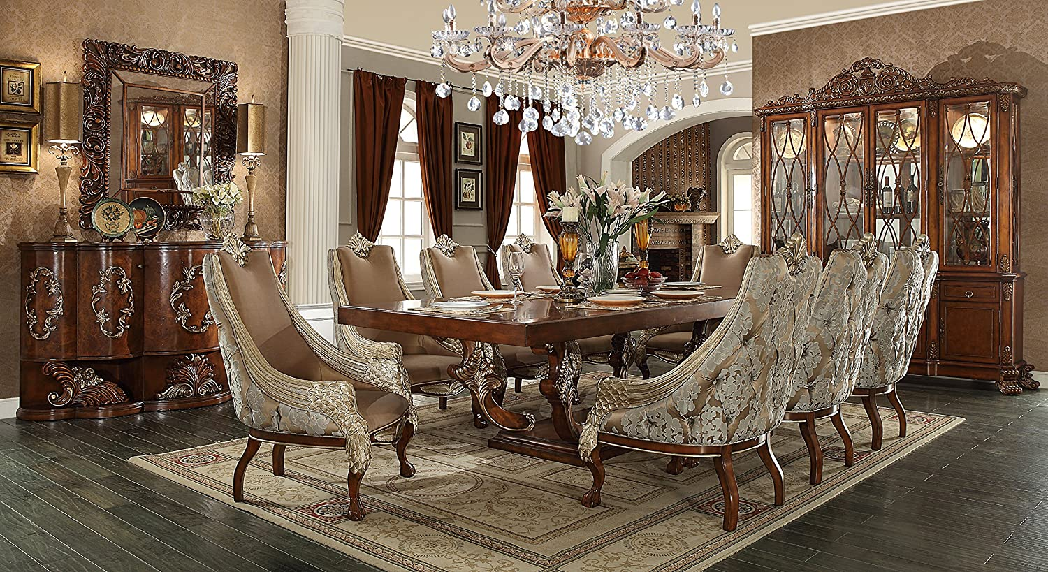 Lovely Amazon.com   Inland Empire Furniture Jacklyn Formal 9 Piece Dining Room Set    Table U0026 Chair Sets