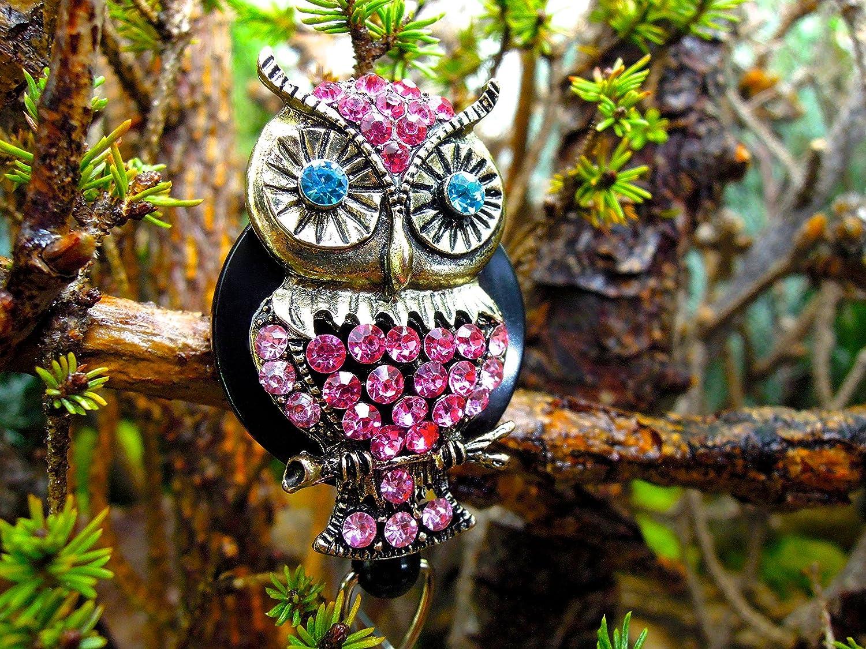 Owl Badge Holder badge holder badge reel retractable badge holder badge reel nurses week gift