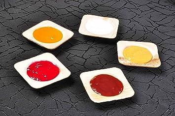 """Verde Atmos 100 unidades – 2,5 """"cuadrado Salsa/cuenco de queso"""
