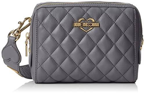 Borsa Quilted Nappa Pu Grigio, Womens Shoulder Bag, Grey, 6x19x28 cm (B x H T) Love Moschino