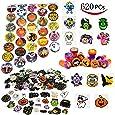 Joyin Toy Over 600 Pieces Halloween Craft Assortment Kit Including Halloween Temporary Tattoos Halloween Stickers, Halloween Stampers Foam Stickers for Halloween Party Faovrs Halloween Craft Supplies