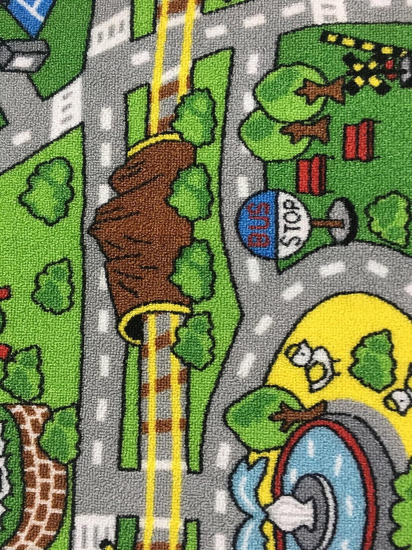 HUAHOO Kids Rug with Roads Kids Rug Play mat City Street Map Children Learning Carpet Play Carpet Kids Rugs Boy Girl Nursery Bedroom Playroom Classrooms Play Mat Childrens Area Rug 52 x 75