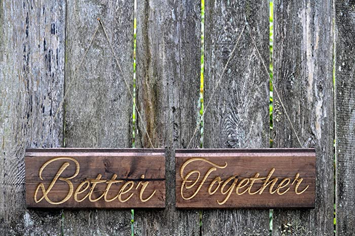 Rustic Wedding Signs.Amazon Com Engraved Wedding Signs Wedding Better Together Sign
