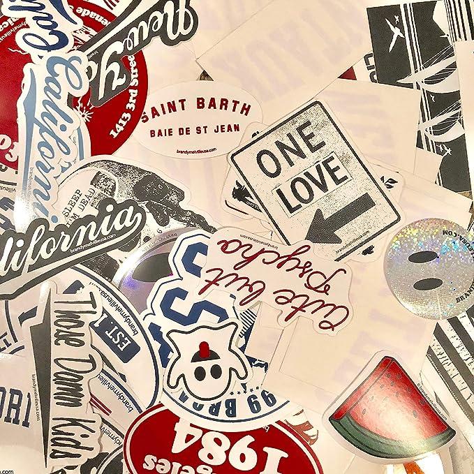 e0bd12f832d6 Amazon.com  Brandy Melville Sticker Bundle Lot Collection of 145 Laptop  Deco Vinyl Rare  Computers   Accessories