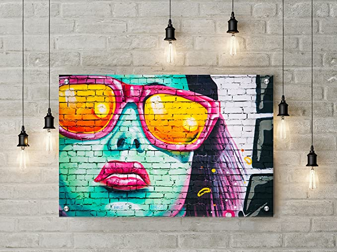 Buttered Kat Street Art Girl Graffiti Wall Art Decor by (Large