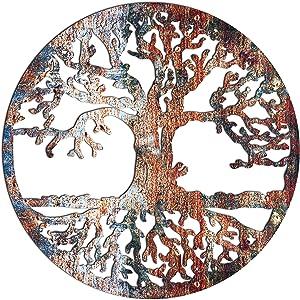 Venovez (Metal-Wood) Wall Art, Tree Of Life Wall Decor, Wall Hanging, Wall Decor Old Tree, Nautical Wall Old Tree, (Wood, 20