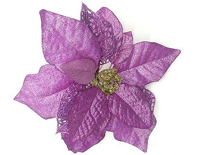 Amazon 12 Pcs 78 Christmas Poinsettias Tree Decorative Silk
