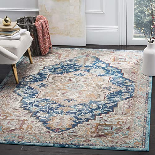 Safavieh Aria Collection Abstract Area Rug, 8 x 10 , Blue Beige