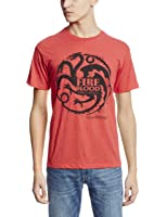 Game of Thrones Fire and Blood Targaryen Symbol Adult Red T-Shirt