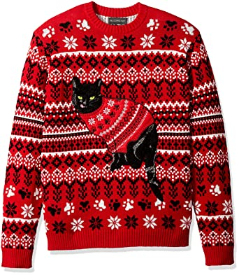 a28672a7d687 Blizzard Bay Men s Black Cat Ugly Christmas Sweater