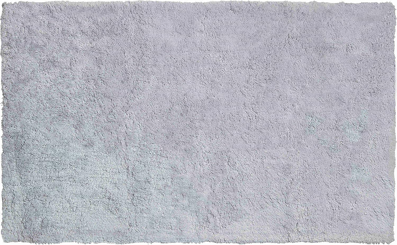 Grund organisch Garn Badteppich, 100% Bio-Baumwolle Garn, ultra soft, rutschfest, ÖKO-TEX-zertifiziert, 5 Jahre Garantie, CALO, Badematte 70x120 cm, grau