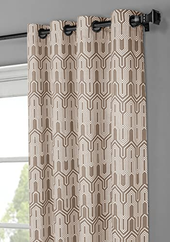 Window Elements Juneau Printed Cotton Extra Wide 104 x 96 in. Grommet Curtain Panel Pair