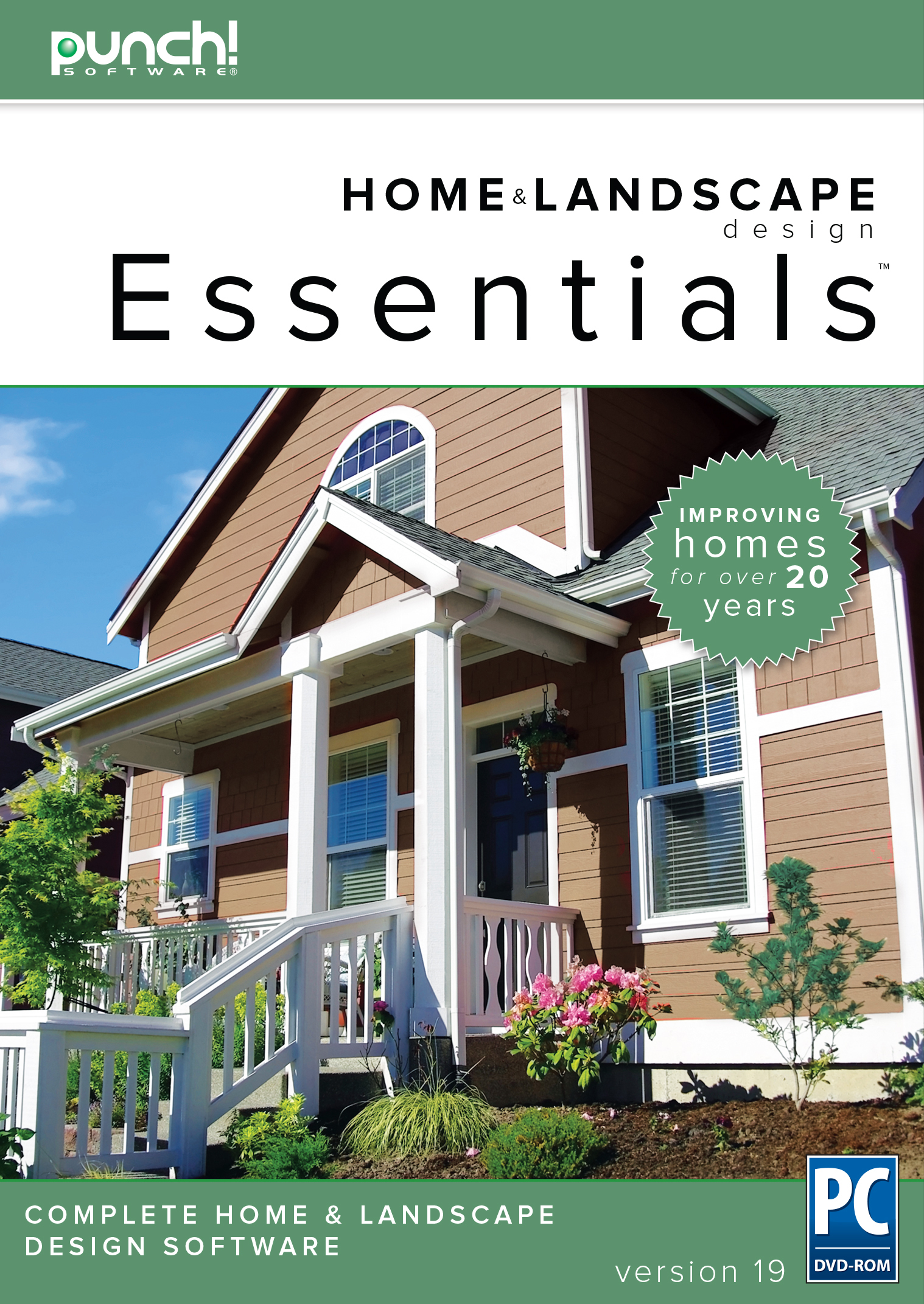 Punch! Home & Landscape Design Essentials v19  for Windows PC [Download] by Encore
