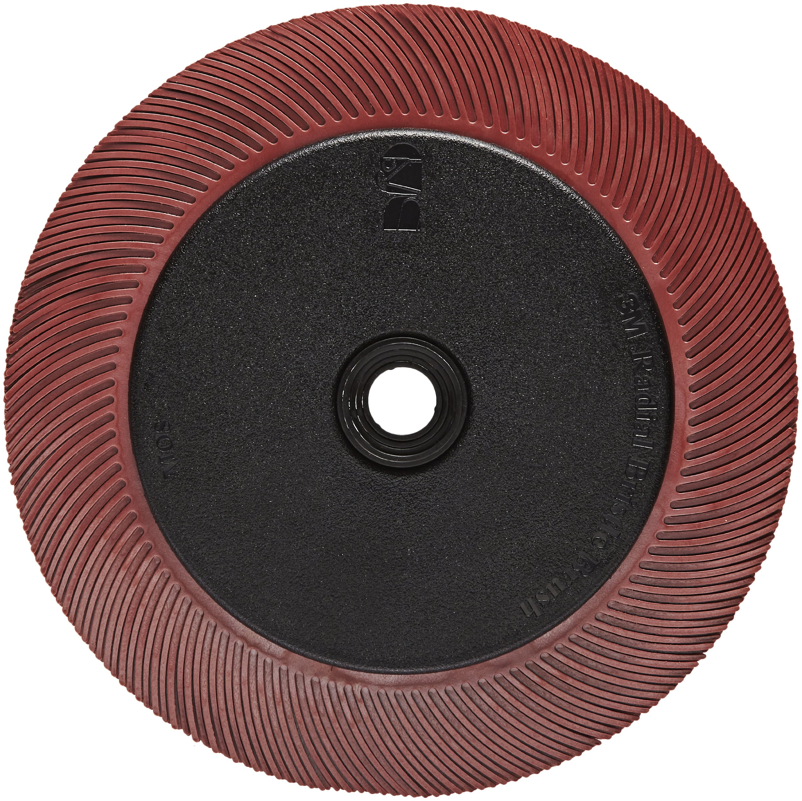 Scotch-Brite(TM) Radial Bristle Brush, Aluminum Oxide, 6000 rpm, 7-79/128 Diameter x 1 Width, 220 Grit, Red (Pack of 1)