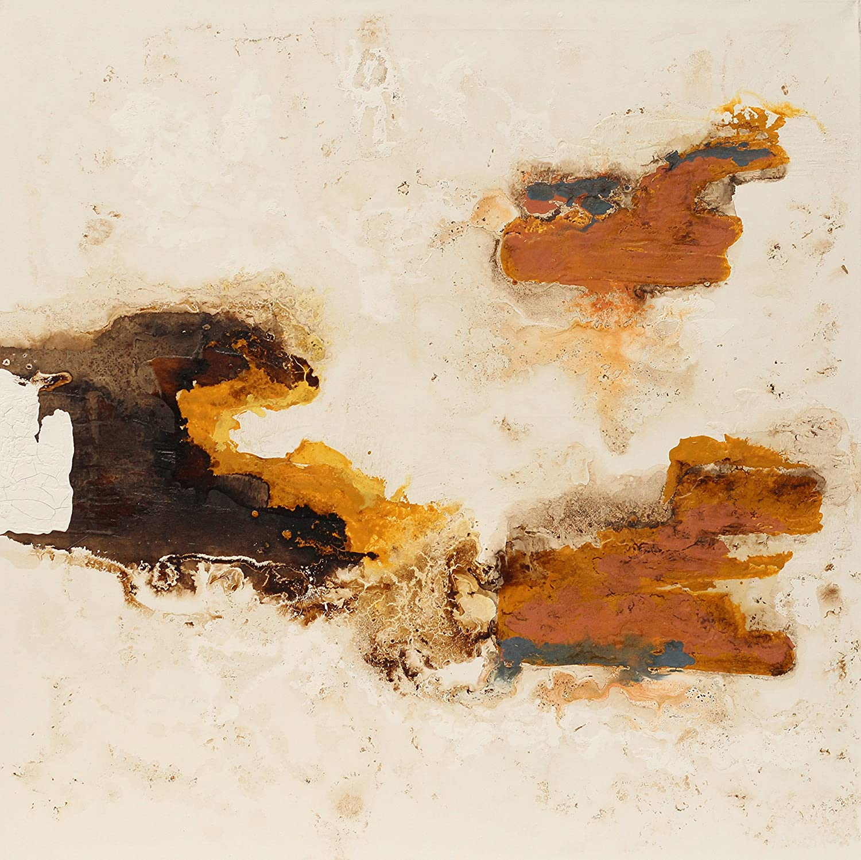Angie Decoration Cuadro Abstracto, Acrílico, Ocre, 100x4x100 cm