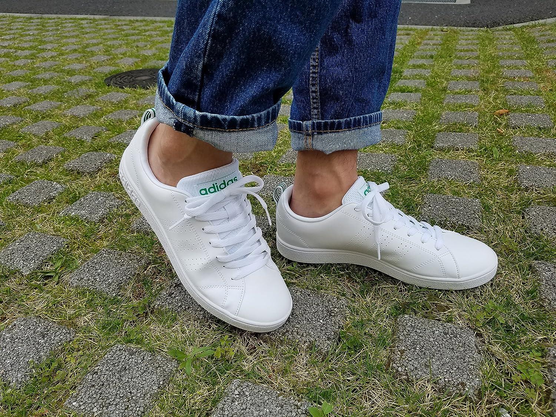 Adidas NEO Advantage Clean VS, Scarpe da Ginnastica Uomo, Bianco (FtwblaVerde 000), 44 23 EU