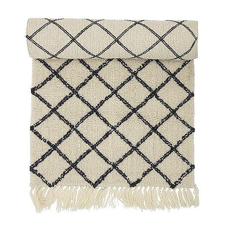 Amazon Bloomingville Wool Rug With Diamond Pattern Home Kitchen Amazing Diamond Pattern Rug