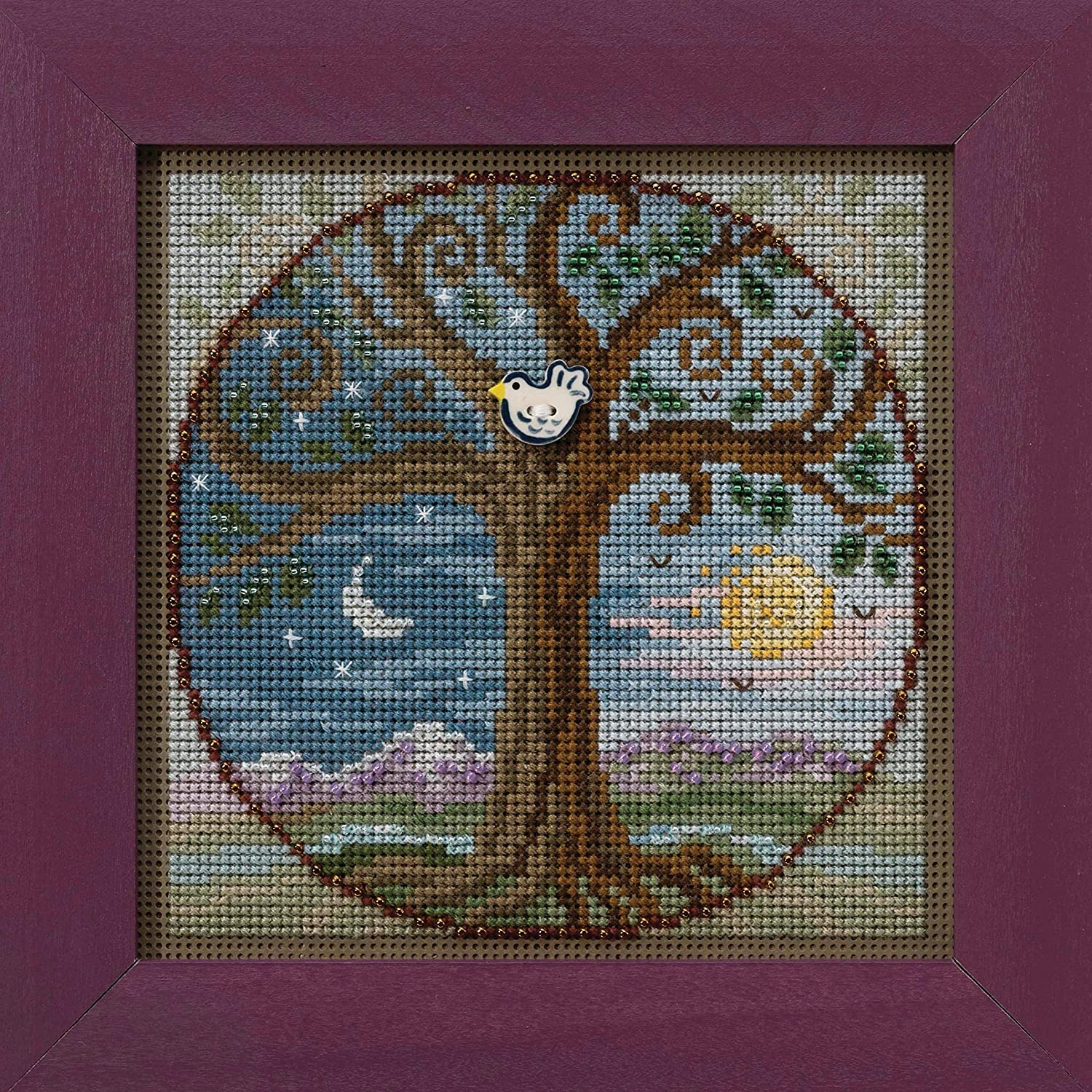 Tree of Life Beaded Counted Cross Stitch Kit Mill Hill 2020 Buttons /& Beads Autumn MH142023