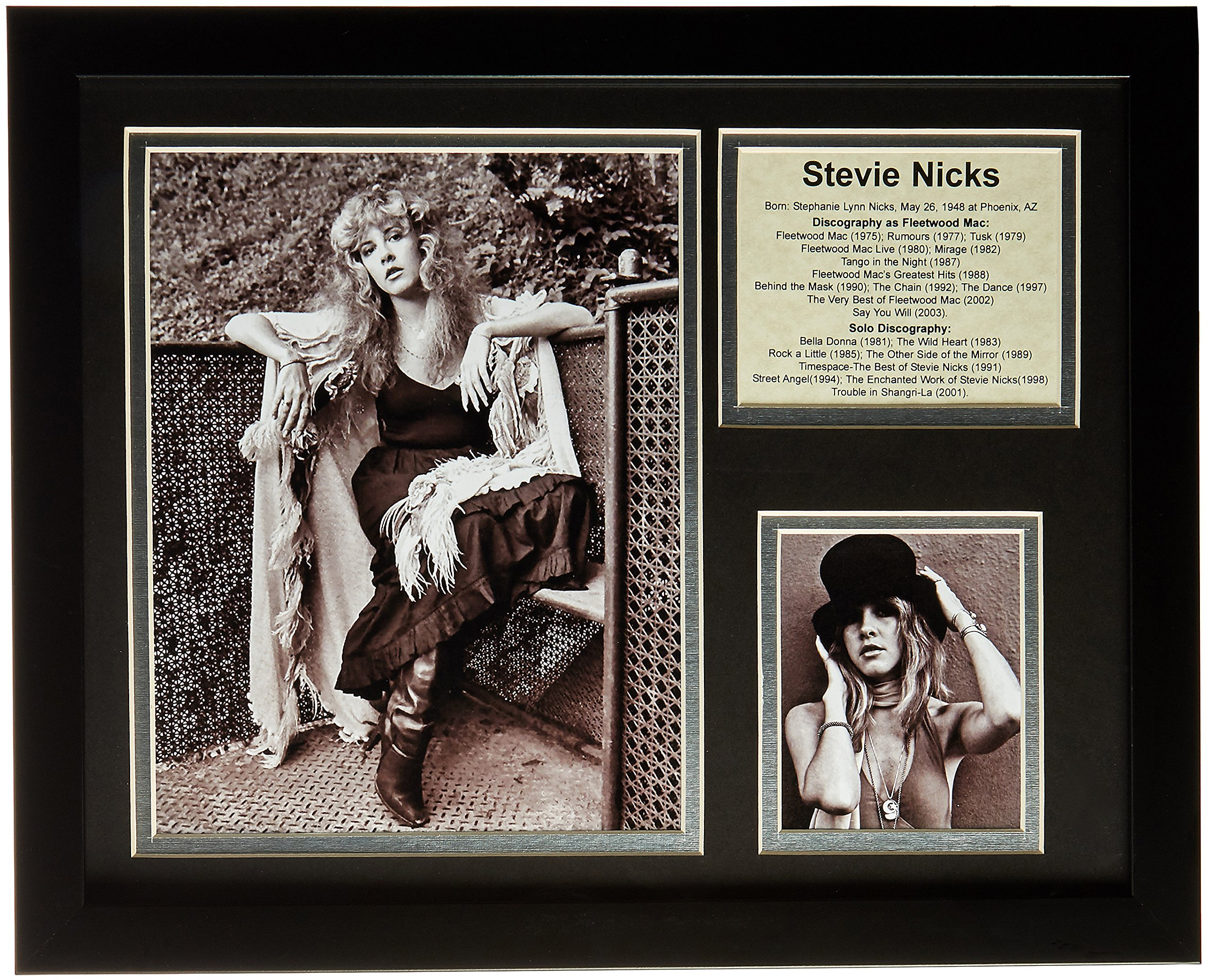 Legends Never Die Stevie Nicks Framed Photo Collage, 11 by 14-Inch