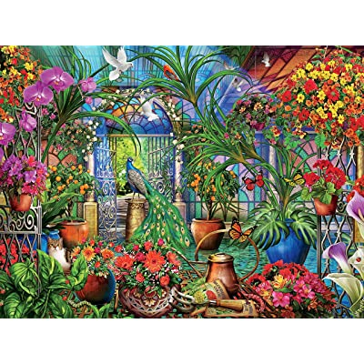 Ceaco 3401-45 Tropical Greenhouse Puzzle - 1500Piece: Toys & Games