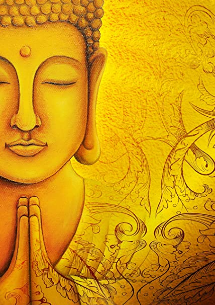 Tallenge   Buddha Wall Poster   Unframed Rolled A3 Size Poster  11.6x16.5 inches  Art Prints