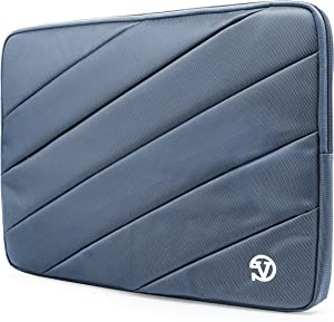 Vangoddy Nylon Aero Carrying Quilted Sleeve Blue Travel Case for Acer Aspire, V15, V Nitro, V3, 14 inch 15.6 inch Laptops