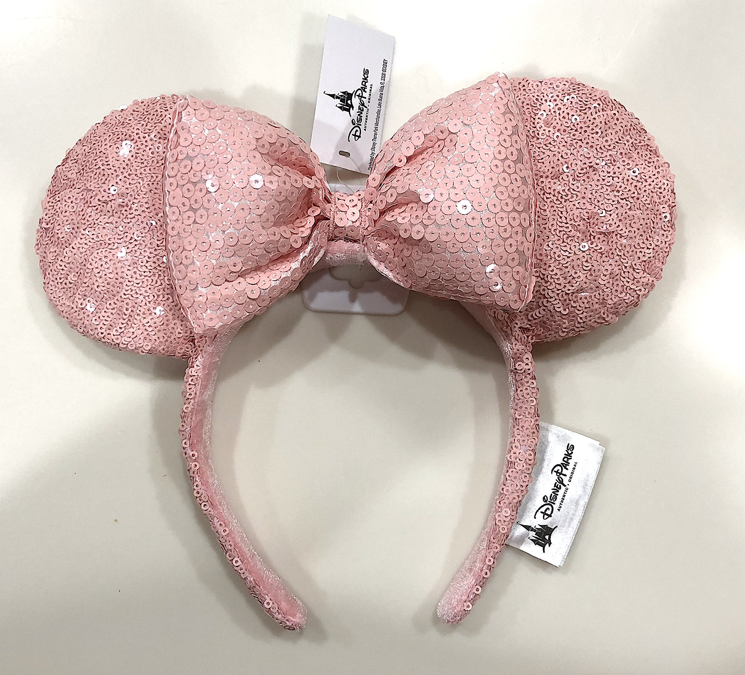 Disney Parks Millennial Pink Minnie Mouse Ear Sequined Headband