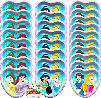 Amazon.com: Princess Party Supplies - Platos de postre de ...